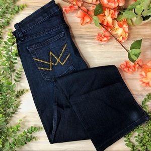 7FAM A Pocket Embellished Pockets Blue Jeans
